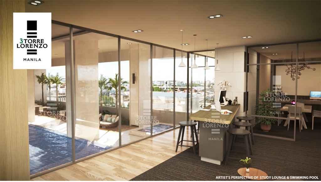 3Torre Lorenzo - Study Lounge Overlooking Lap Pool