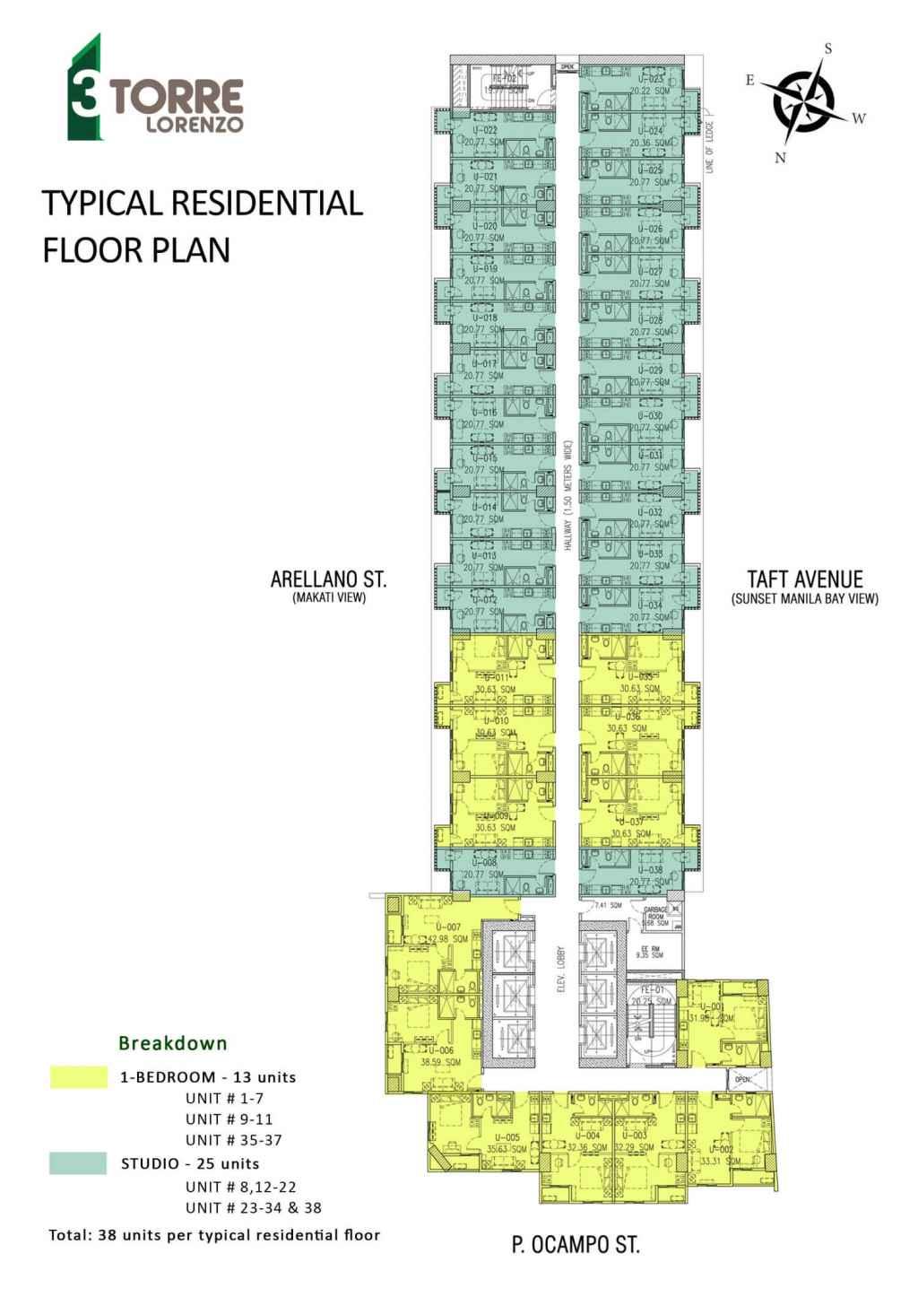 3Torre Lorenzo Typical Floor Plan