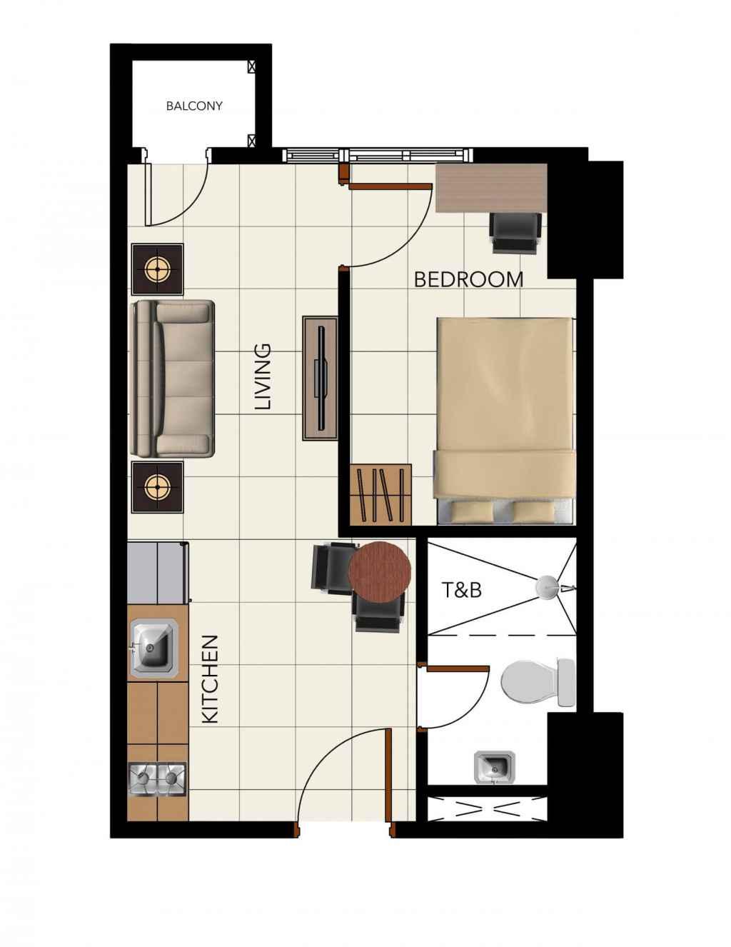 3Torre Lorenzo 1-Bedroom