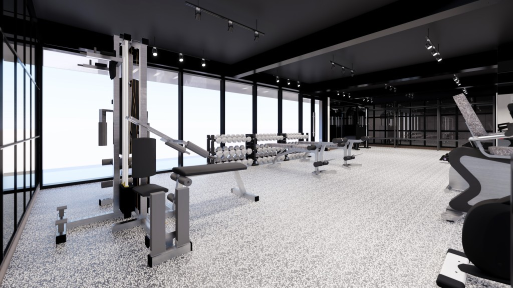 Artist's Perspective of Torre Lorenzo Malate - Gym