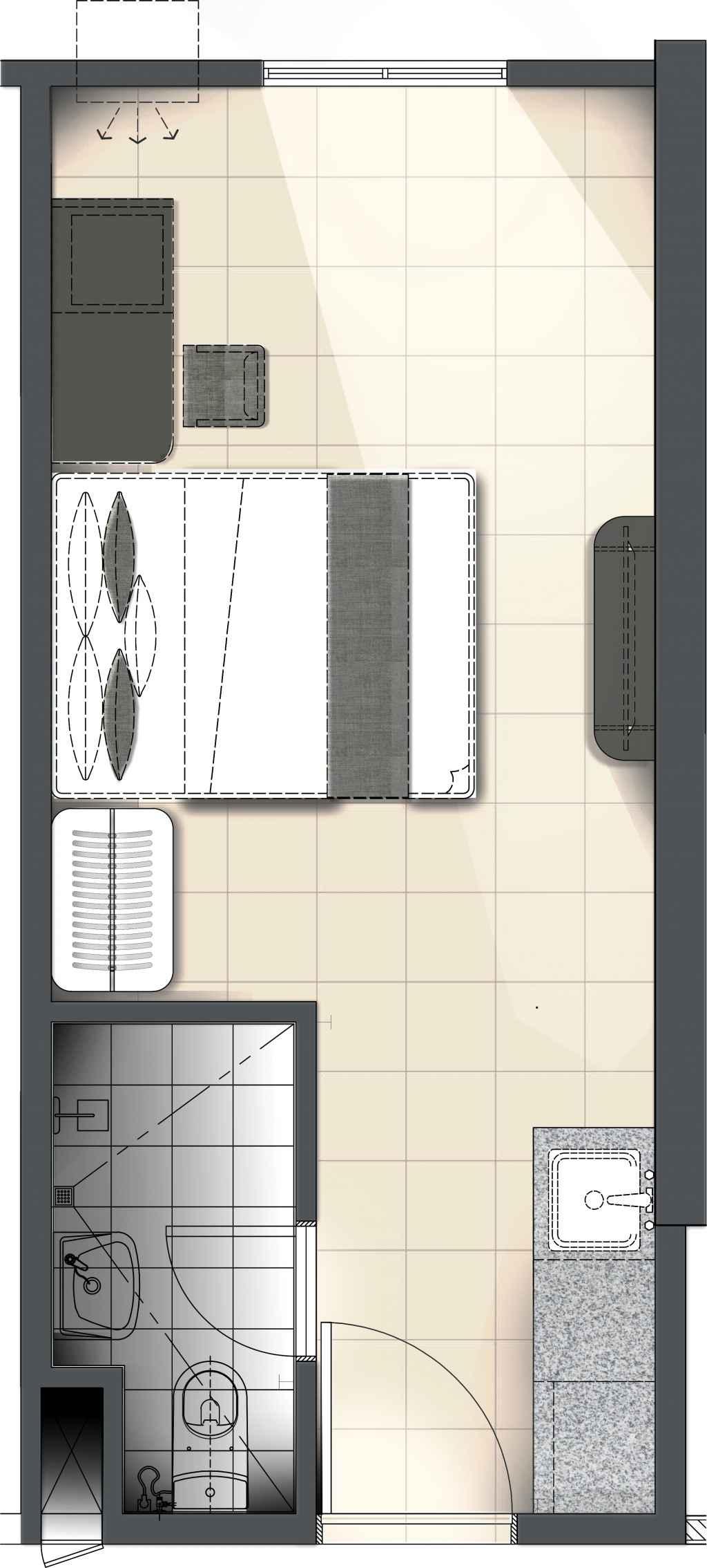 Torre Lorenzo - The Suites at TLM - Studio Unit
