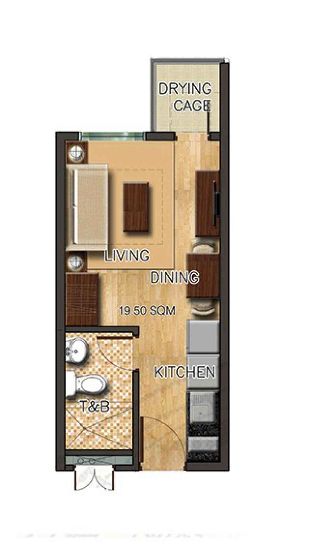 photo of Torre Lorenzo Sur studio floor layout